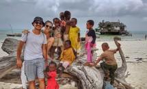 Poze din Zanzibar cu nepoții Lidiei Buble