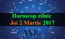 Horoscop zilnic Joi, 2 Martie 2017