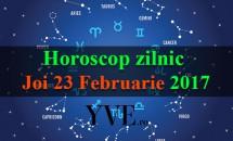 Horoscop zilnic Joi, 23 Februarie 2017