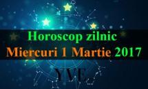 Horoscop zilnic Miercuri, 1 Martie 2017