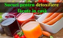 Sucuri pentru detoxifiere făcute în casă