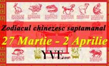 Zodiacul chinezesc saptamanal 27 Martie - 2 Aprilie 2017