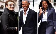 Barack și Michelle Obama se relaxează după plecarea de la Casa Albă. Cei doi au fost surprinși în oraș, alături de un celebru artist