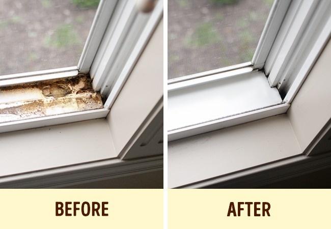Curățarea marginii ferestrei