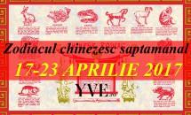 Zodiacul chinezesc saptamanal 17-23 Aprilie 2017