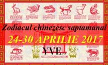 Zodiacul chinezesc saptamanal 24-30 Aprilie 2017