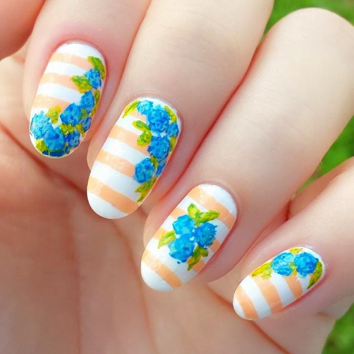 unghii colorate pentru primavara