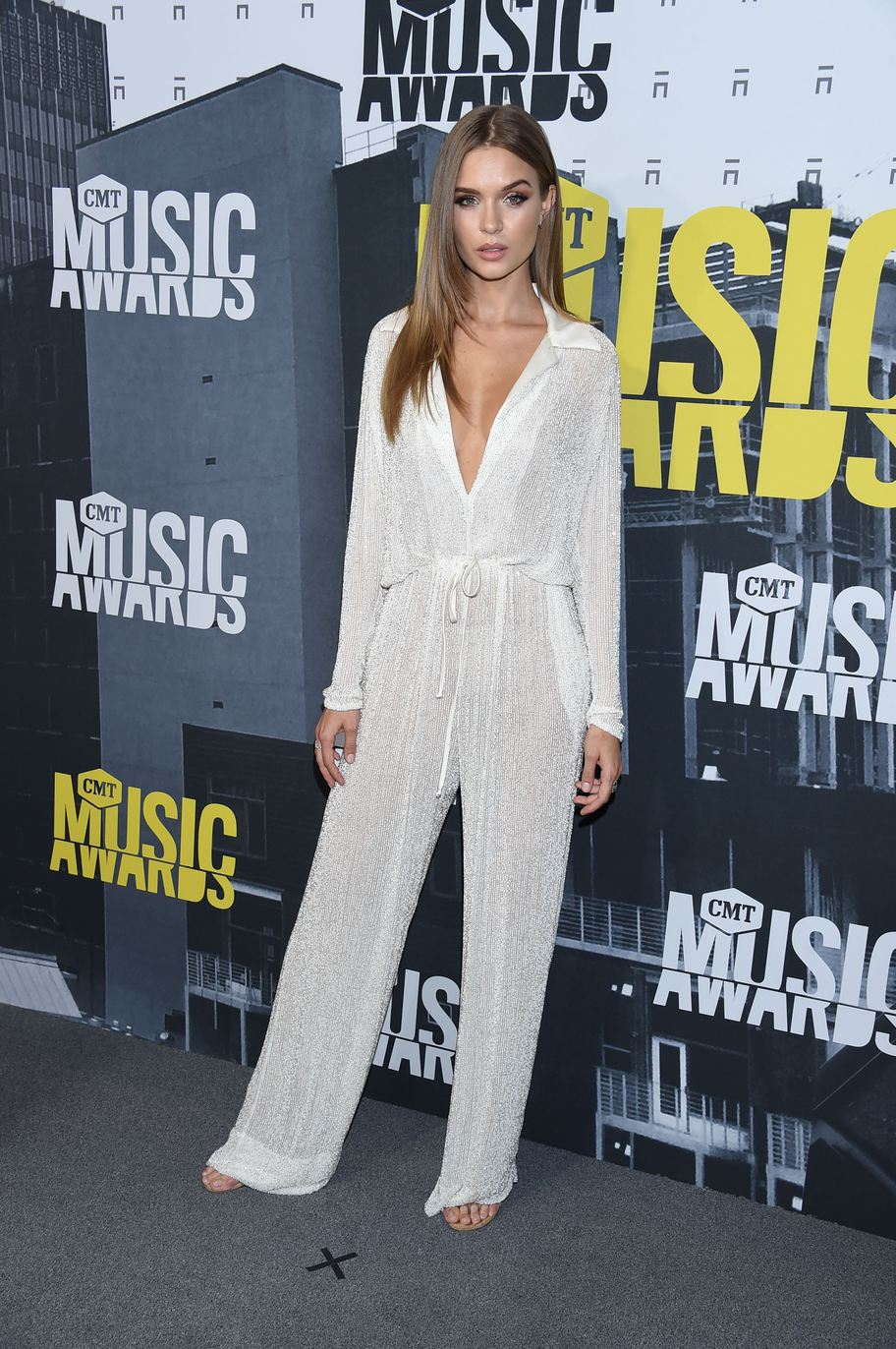 Mandatory Credit: Photo by Jim Smeal/BEI/Shutterstock (8860246ew) Josephine Skriver CMT Music Awards, Arrivals, Nashville, USA - 07 Jun 2017
