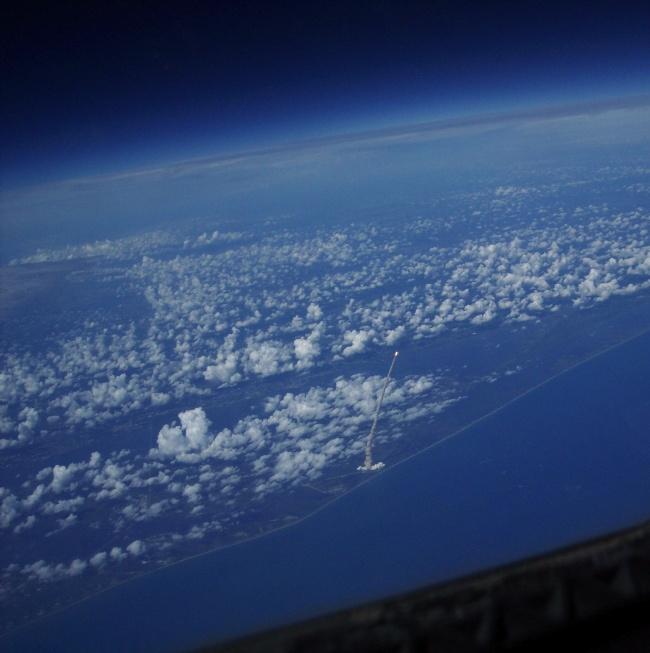 Lansare văzută de pe un satelit