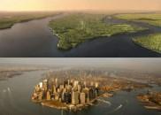 Manhattan în anul 1609 și acum