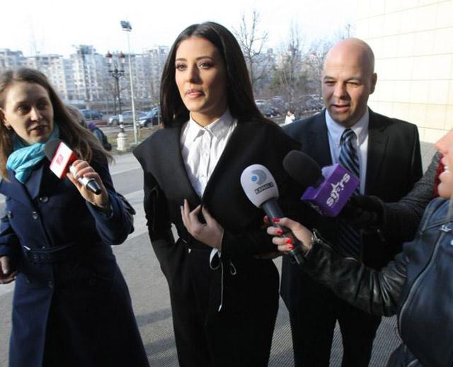 Mihai Iacobescu si Antonia in timpul procesului cu Vincenzo