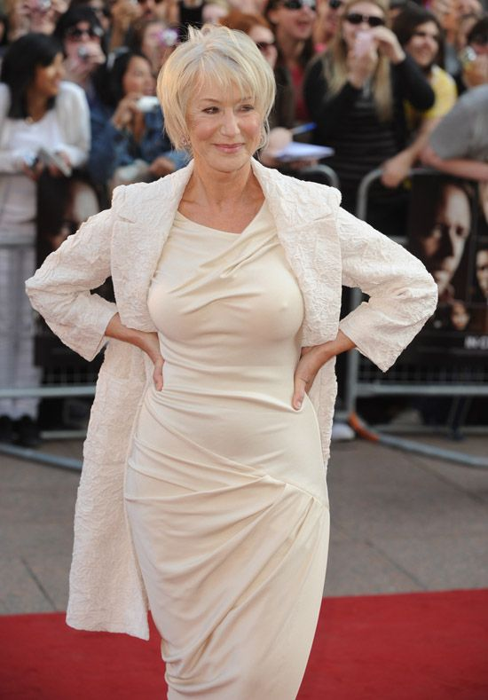 """British actress Helen Mirren attends the premiere of """"State Of Play"""" at Empire, Leicester Square in London on April 21, 2009. (UPI Photo/Rune Hellestad) (Newscom TagID: upiphotos928942) [Photo via Newscom]"""