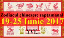 Zodiacul chinezesc saptamanal 19-25 Iunie 2017
