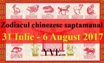 Zodiacul chinezesc saptamanal 31 Iulie - 6 August 2017