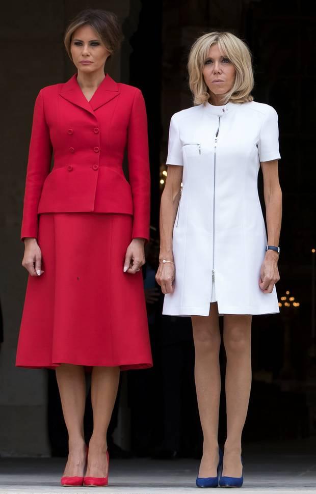 Melania Trump şi Brigitte Macron se întrec în ţinute scumpe 1
