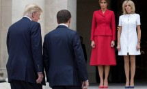 Melania Trump şi Brigitte Macron se întrec în ţinute scumpe