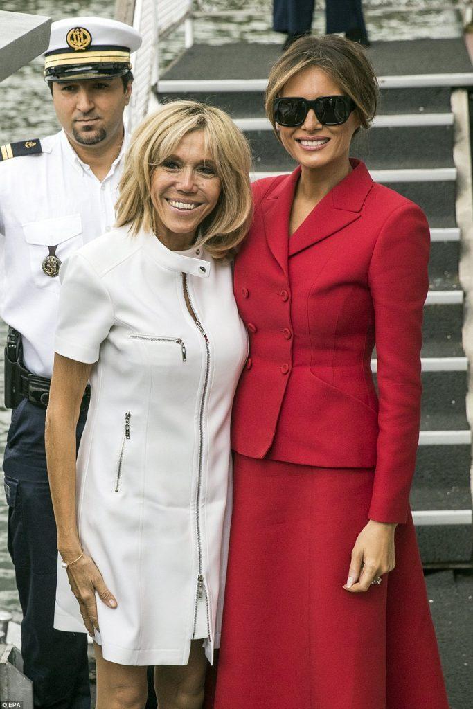 Melania Trump şi Brigitte Macron se întrec în ţinute scumpe 4