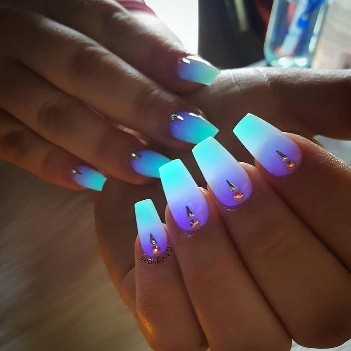 unghii neon pentru vara