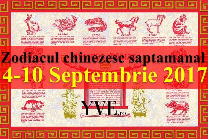 Zodiacul chinezesc saptamanal 4-10 Septembrie 2017