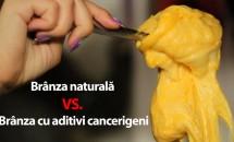 Brânza naturală VS. Brânza cu aditivi cancerigeni