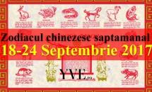Zodiacul chinezesc săptămânal 18-24 Septembrie 2017