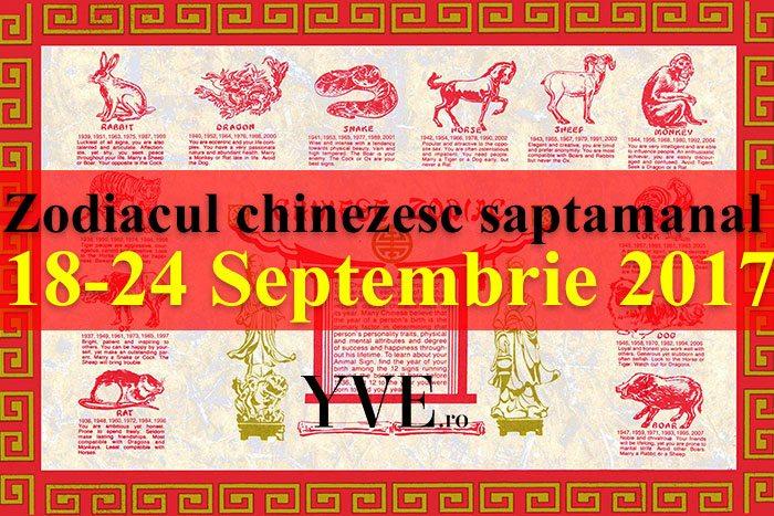 Zodiacul chinezesc saptamanal 18-24 Septembrie 2017