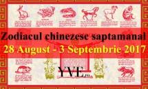 Zodiacul chinezesc saptamanal 28 August - 3 Septembrie 2017