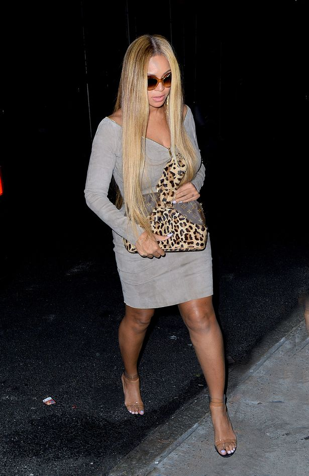 Beyonce-looks-striking-in-a-low-cut-gray-dress-as-she-steps-out-for-dinner-at-ABC-kitchen-in-NYC