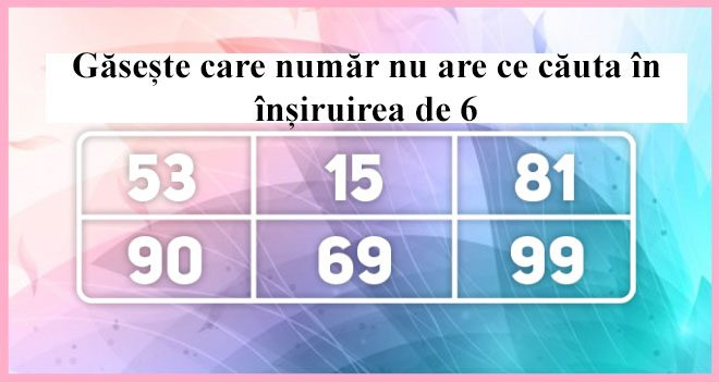 TEST: Ghiceste numarul care nu respecta regula