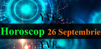 Horoscop 26 Septembrie 2018