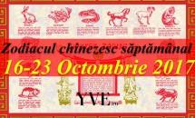 Zodiacul chinezesc săptămânal 16-23 Octombrie 2017