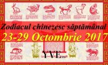 Zodiacul chinezesc săptămânal 23-29 Octombrie 2017