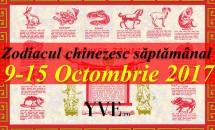 Zodiacul chinezesc săptămânal 9-15 Octombrie 2017