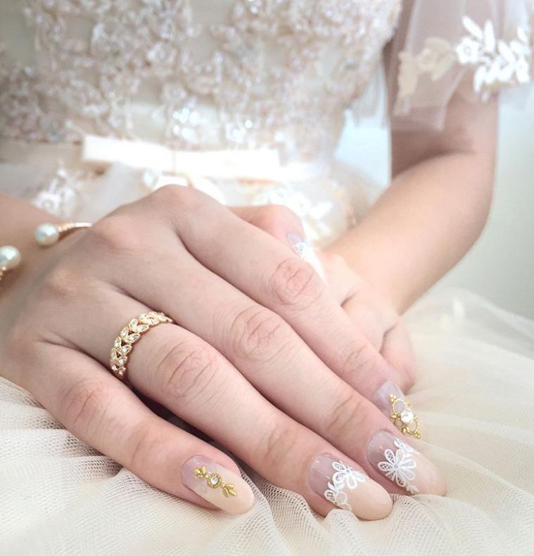 manichiura de nunta nude
