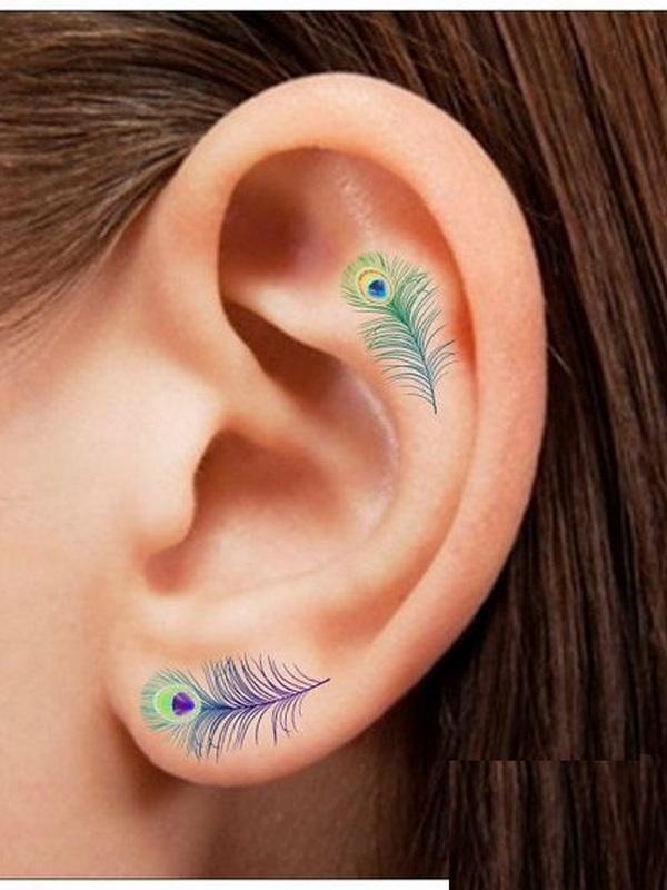 tatuaje in zona urechii 8