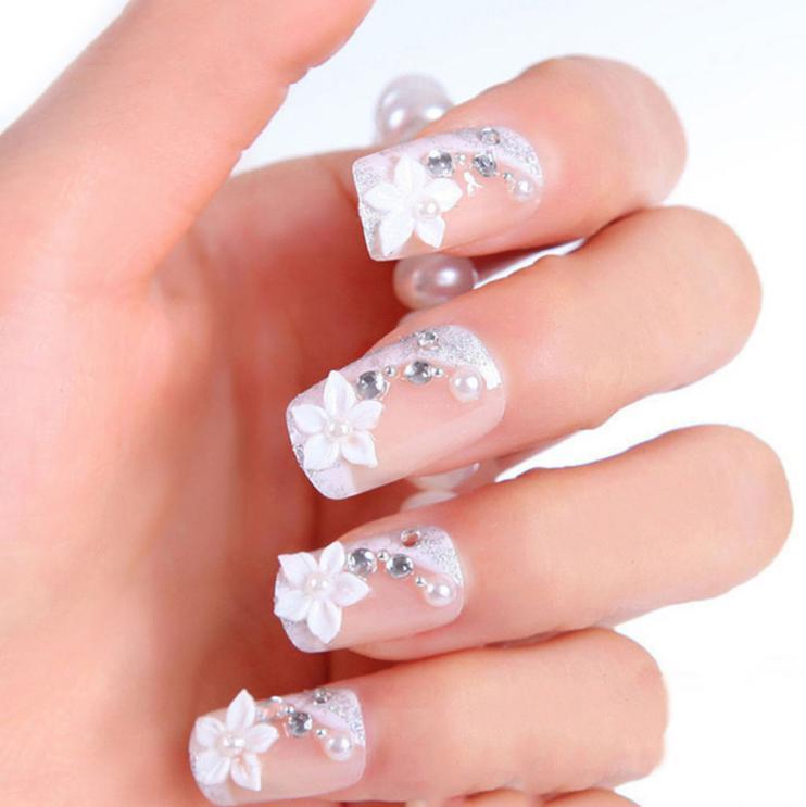 unghii 3D pentru mireasa