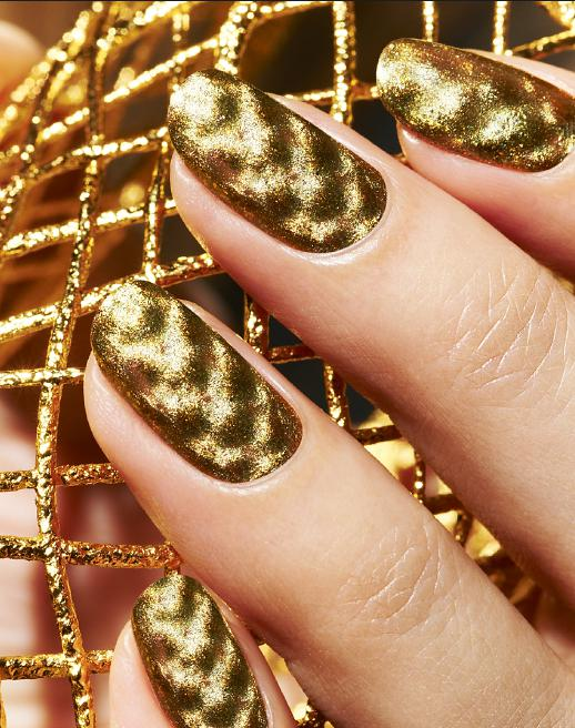 unghii aurii pentru nunta