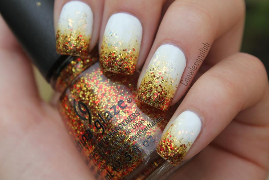 unghii french cu auriu