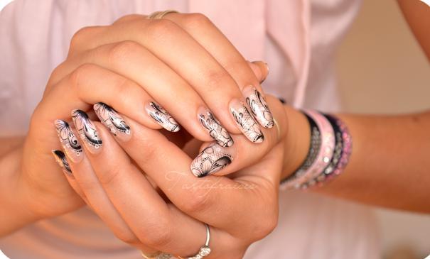 unghii pictate pentru nunta
