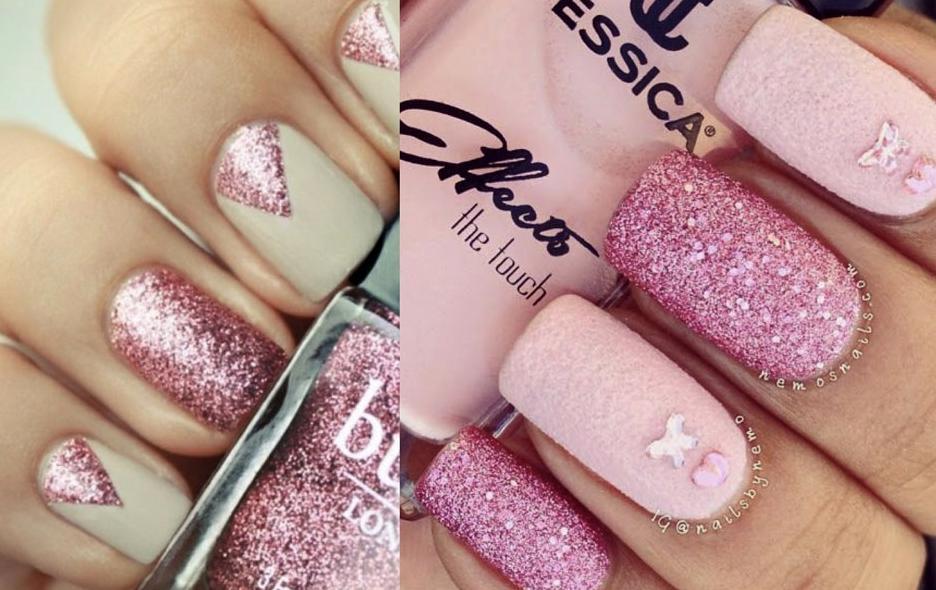 unghii roz elegante