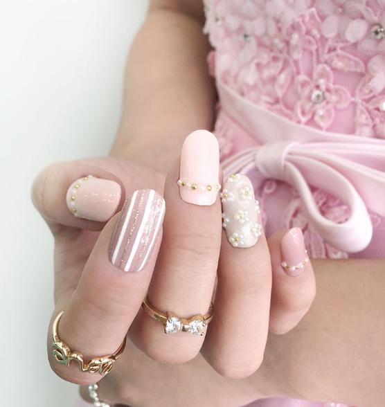 unghii roz pentru mireasa