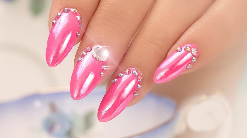 unghii roz pentru nunta