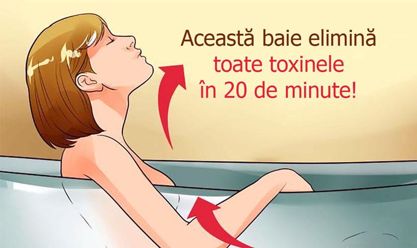 Baia care elimină toxinele și reziduurile din organism în doar 20 de minute
