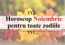 Horoscop Noiembrie 2018