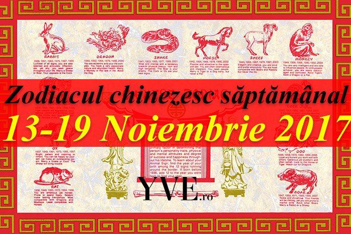 Zodiacul chinezesc săptămânal 13-19 Noiembrie 2017