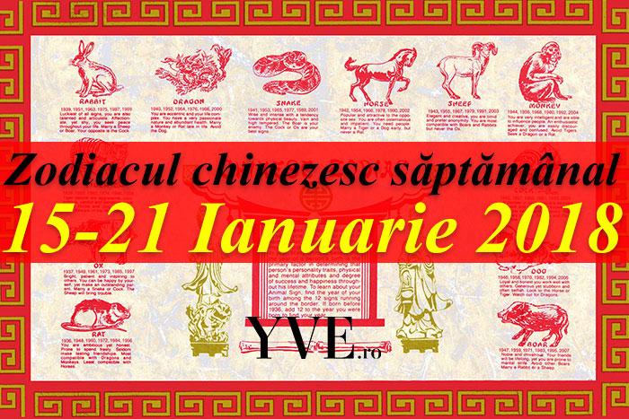 Zodiacul chinezesc săptămânal 15-21 Ianuarie 2018