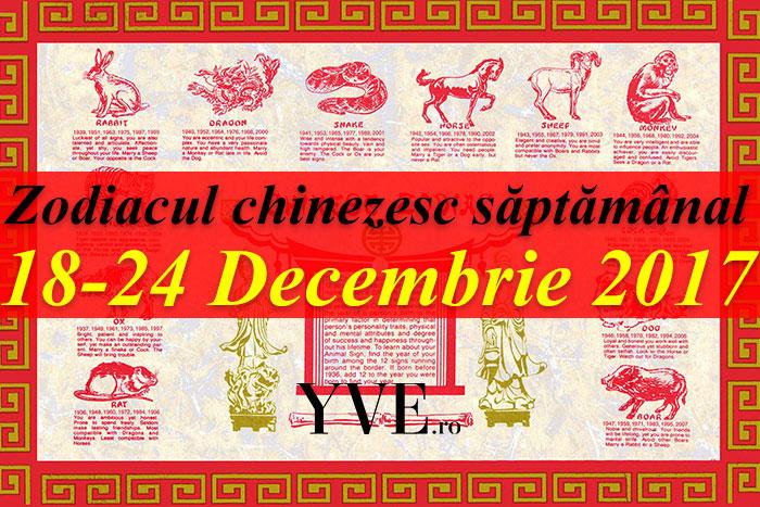 Zodiacul chinezesc săptămânal 18-24 Decembrie 2017