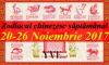 Zodiacul chinezesc săptămânal 20-26 Noiembrie 2017