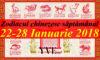 Zodiacul chinezesc săptămânal 22-28 Ianuarie 2018