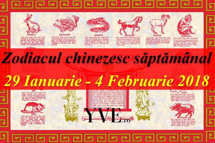 Zodiacul chinezesc săptămânal 29 Ianuarie - 4 Februarie 2018